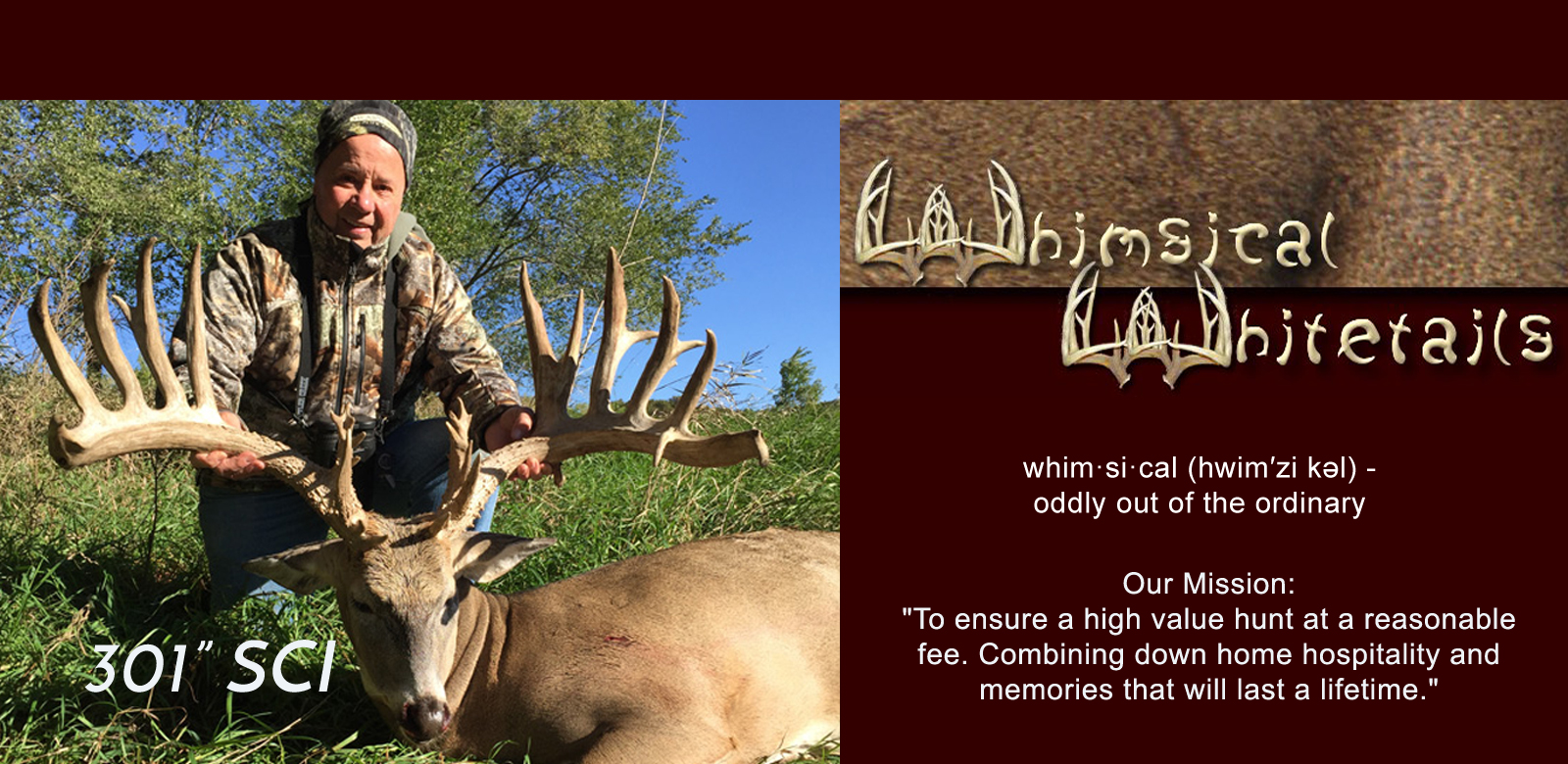 Whimsical Whitetails Header